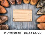 wild west old retro leather... | Shutterstock . vector #1016512720