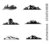 Set Of Vector Mountain And...