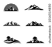 set of vector mountain and... | Shutterstock .eps vector #1016514850