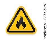 fire warning dangerous flame... | Shutterstock .eps vector #1016515693