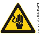 high voltage sign or electrical ... | Shutterstock .eps vector #1016516479