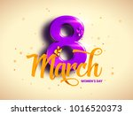 8 march. international woman's... | Shutterstock .eps vector #1016520373