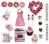 cliparts collection   group of... | Shutterstock . vector #1016523223