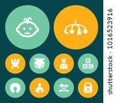 set of 10 kid icons set.... | Shutterstock . vector #1016523916
