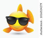 cute fish emoticon  emoji ... | Shutterstock .eps vector #1016524279