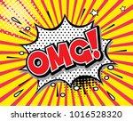 freehand drawn comic speech... | Shutterstock .eps vector #1016528320