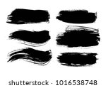 ink design elements. brush... | Shutterstock .eps vector #1016538748