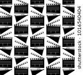 seamless pattern movie cinema...   Shutterstock .eps vector #1016540404