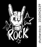 rock and roll  sign. hand drawn ... | Shutterstock .eps vector #1016542639
