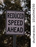 Small photo of REDUCE SPEED AHEAD SIGN