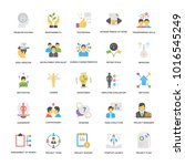 project management vector... | Shutterstock .eps vector #1016545249