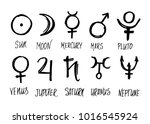 symbols of the planets. vector... | Shutterstock .eps vector #1016545924