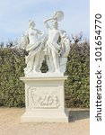 Sculpture in Belveder park in Vienna - stock photo