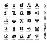 glyph icon set project... | Shutterstock .eps vector #1016548264