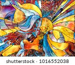 stained glass forever series.... | Shutterstock . vector #1016552038