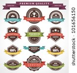 vintage labels and ribbons set. ... | Shutterstock .eps vector #101656150