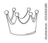 crown vector cartoon... | Shutterstock .eps vector #1016563180