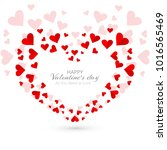 abstract valentine's day hearts ... | Shutterstock .eps vector #1016565469