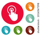 mouse pointer select icons... | Shutterstock .eps vector #1016567398