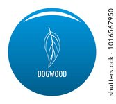 dogwood leaf icon vector blue... | Shutterstock .eps vector #1016567950
