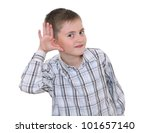 smiling boy standing with hand... | Shutterstock . vector #101657140