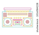 retro stereo cassette player... | Shutterstock .eps vector #1016584228