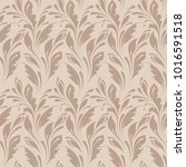 floral seamless pattern.... | Shutterstock .eps vector #1016591518