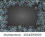 shampoo bubbles on gradient... | Shutterstock .eps vector #1016593420