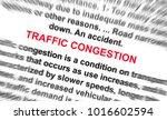 traffic ongestion word radially ... | Shutterstock . vector #1016602594