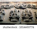 carvings famous shiva temple... | Shutterstock . vector #1016603776