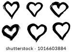 hand drawn hearts set. love... | Shutterstock .eps vector #1016603884