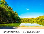 beautiful view road and lake... | Shutterstock . vector #1016610184