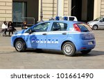 turin   march 7  a police car... | Shutterstock . vector #101661490