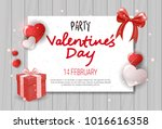 valentines day flyer greeting... | Shutterstock .eps vector #1016616358