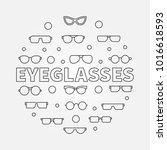 eyeglasses round outline... | Shutterstock .eps vector #1016618593