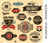 retro style labels and badges... | Shutterstock .eps vector #101662216