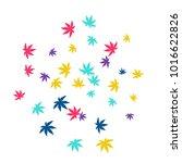 cute vegetative pattern with... | Shutterstock .eps vector #1016622826