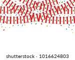 lebanon flags garland white... | Shutterstock .eps vector #1016624803