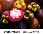 mangosteen and cross section...