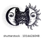 moon crescent turning into... | Shutterstock .eps vector #1016626048
