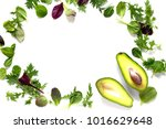 ripe fresh avocado and mixed... | Shutterstock . vector #1016629648