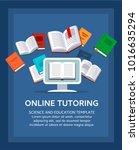 online tutoring  concept. e... | Shutterstock .eps vector #1016635294