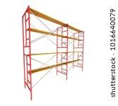 scaffolding metal construction... | Shutterstock . vector #1016640079