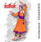 Illustration Of Indian Kathak...