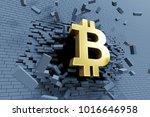 explosive growth of bitcoin ...   Shutterstock . vector #1016646958