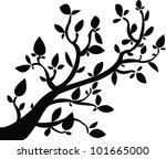vectorized tree | Shutterstock .eps vector #101665000