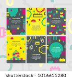 geometric background with...   Shutterstock .eps vector #1016655280
