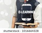 e learning smartphone   mobile... | Shutterstock . vector #1016664328