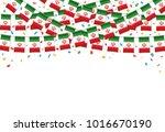 iran flag garland white... | Shutterstock .eps vector #1016670190