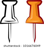 drawing pin icon  push pin... | Shutterstock . vector #1016676049